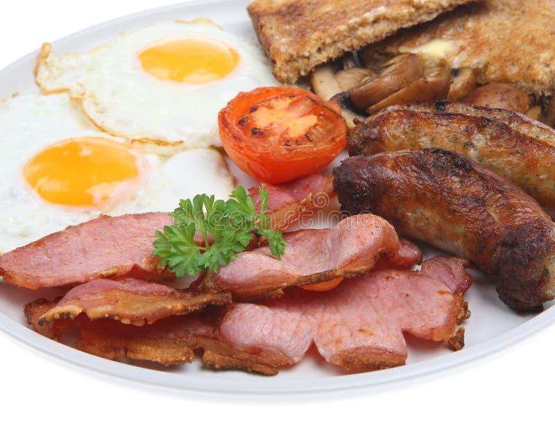 Plein déjeuner frit anglais photo stock