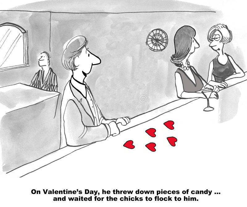 Plein d'espoir la Saint-Valentin illustration stock