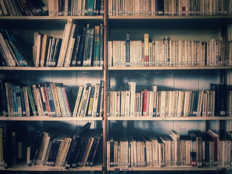 Plein de libre va à la bibliothèque locale lire à découvrir de nouvelles connaissances photos libres de droits