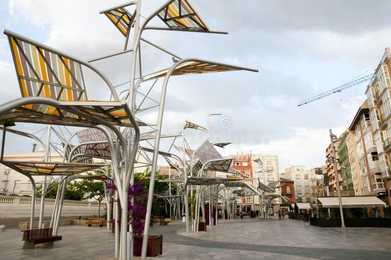 Plein Del Rey - Cartagena - Spanje stock fotografie