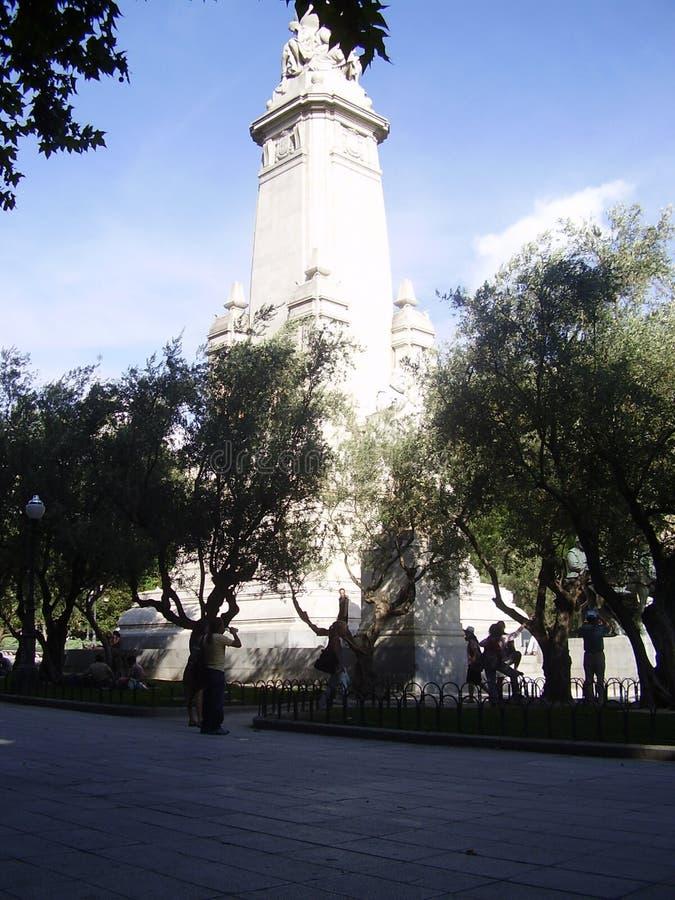 Plein España, Gran VÃa, Madrid stock afbeelding