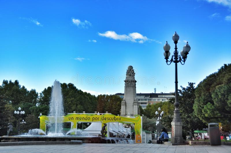 Plein España Vierkant Madrid stock foto's