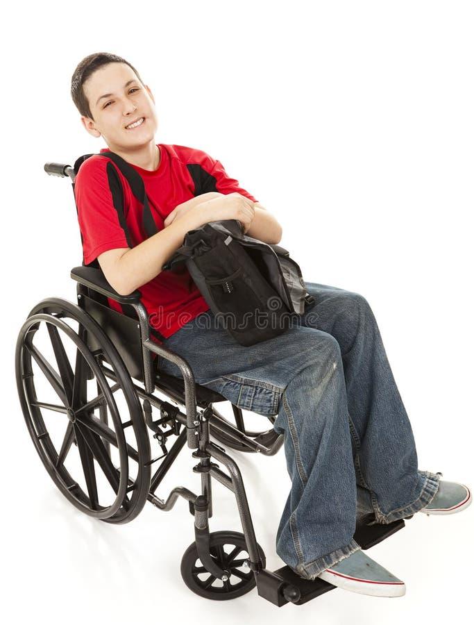 Plein fuselage de garçon de l'adolescence handicapé photo libre de droits