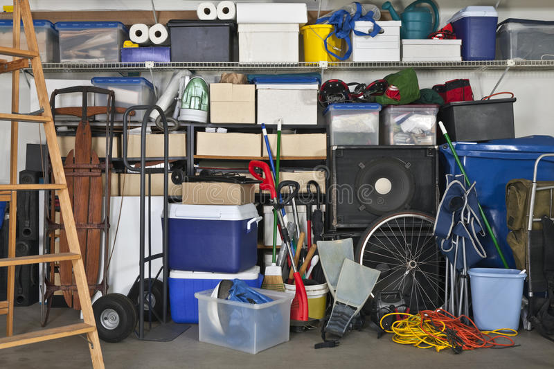 Plein garage photos stock