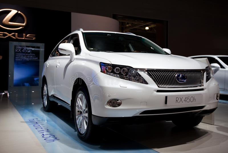 Plein hybride RX 450h de Lexus photo stock