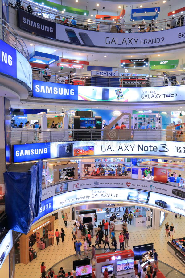 PLEIN LAAG YAT Winkelcomplex Kuala Lumpur royalty-vrije stock foto's