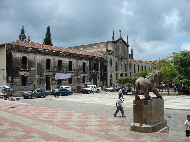 Plein in Leon, Nicaragua royalty-vrije stock foto