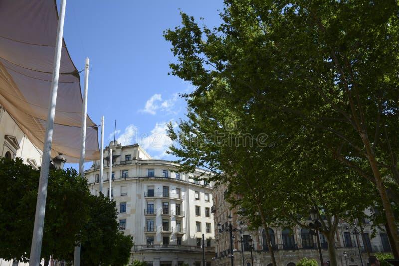 Plein Nueva in Sevilla royalty-vrije stock afbeeldingen