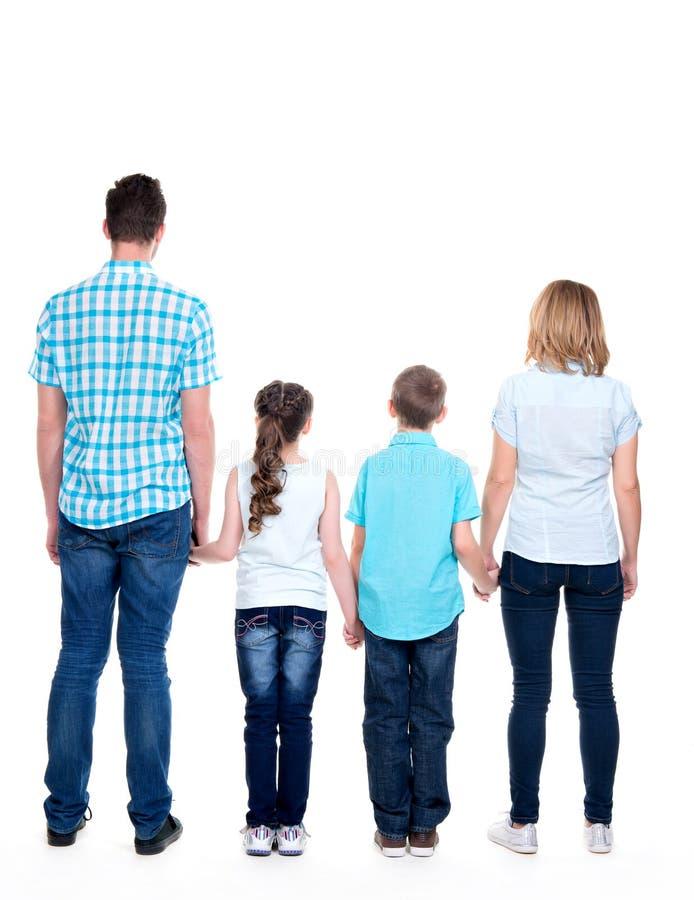Plein portrait arrière de la famille avec des enfants image libre de droits