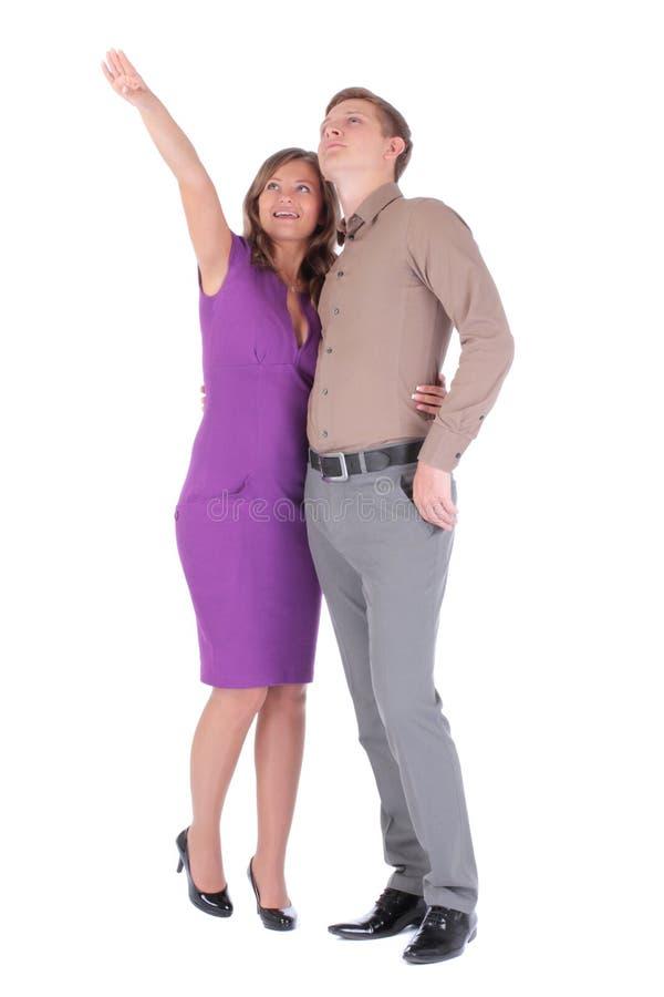 Plein portrait d'homme et de femme attirants heureux de couples photographie stock libre de droits