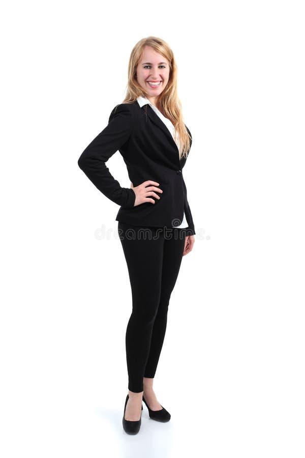 Plein portrait de corps d'une femme d'affaires photos stock