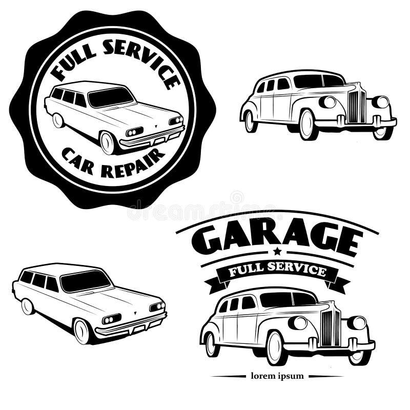 Plein service de voiture illustration libre de droits