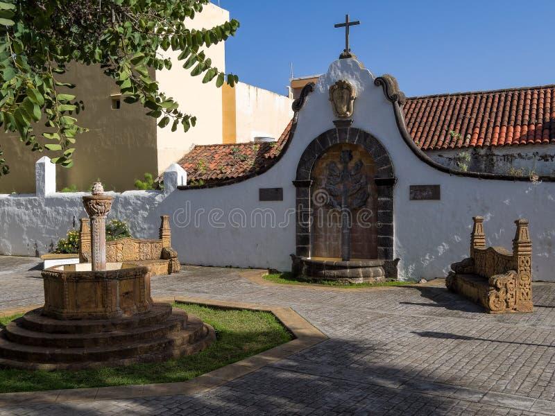 Plein Teresa de Bolivar in Teror, Gran Canaria royalty-vrije stock afbeeldingen