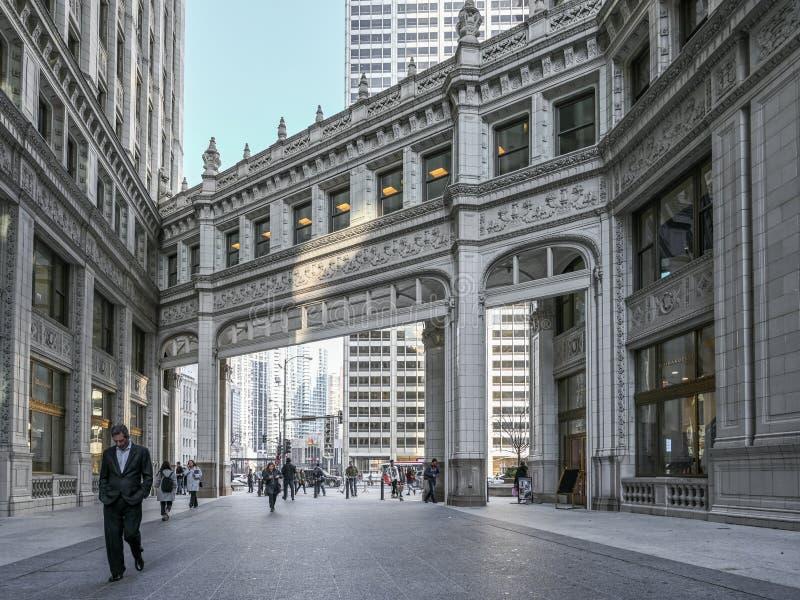 Plein van Amerika in Chicago stock afbeeldingen