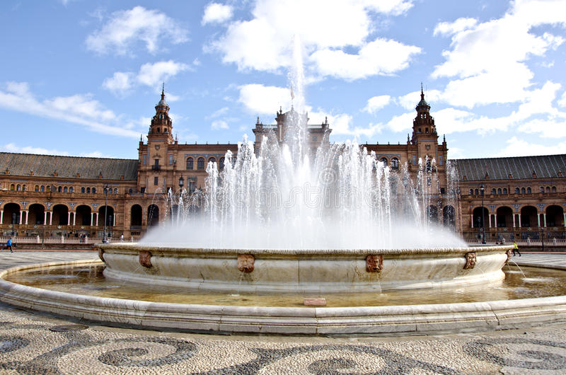 Plein van Spanje, Sevilla royalty-vrije stock foto's
