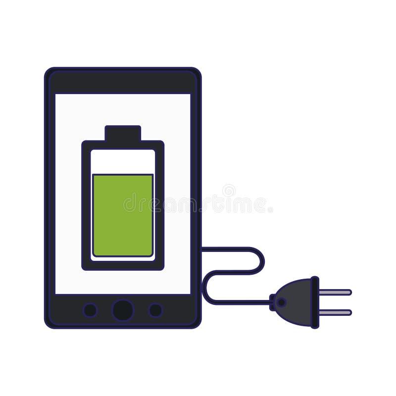 Pleine batterie de Smartphone illustration libre de droits