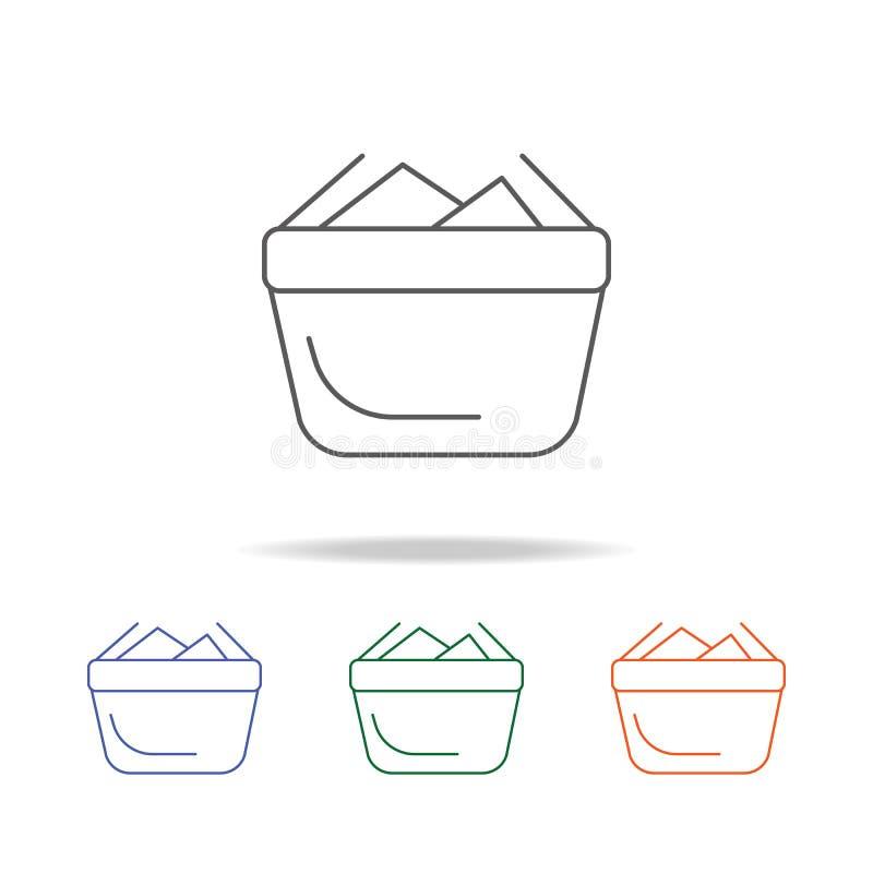 Pleine icône de panier à provisions Élément d'une icône colorée multi d'achats pour le concept et le Web mobiles APP Ligne mince  illustration libre de droits