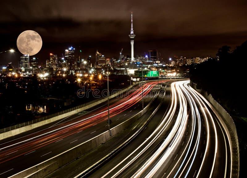 Pleine lune Auckland photos stock