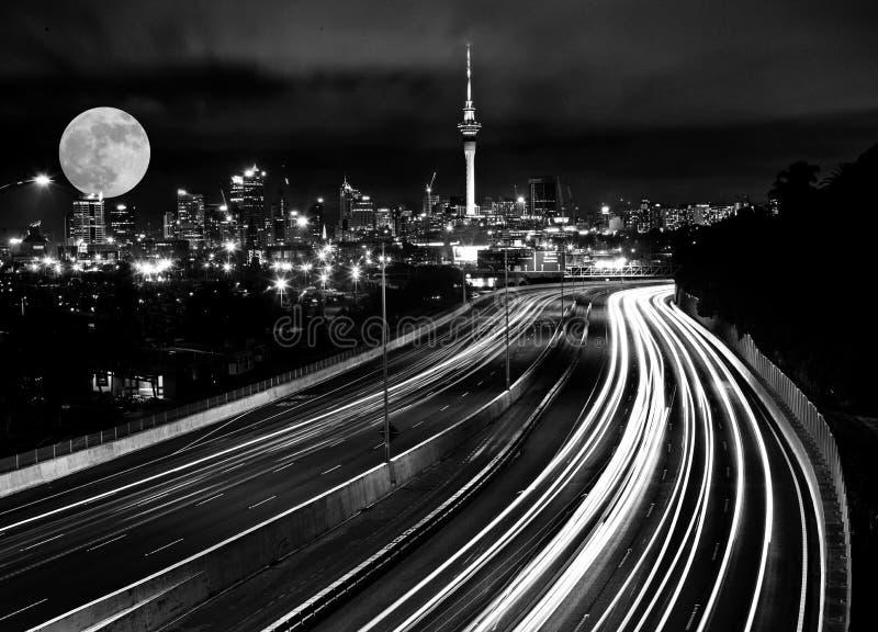 Pleine lune Auckland photographie stock libre de droits