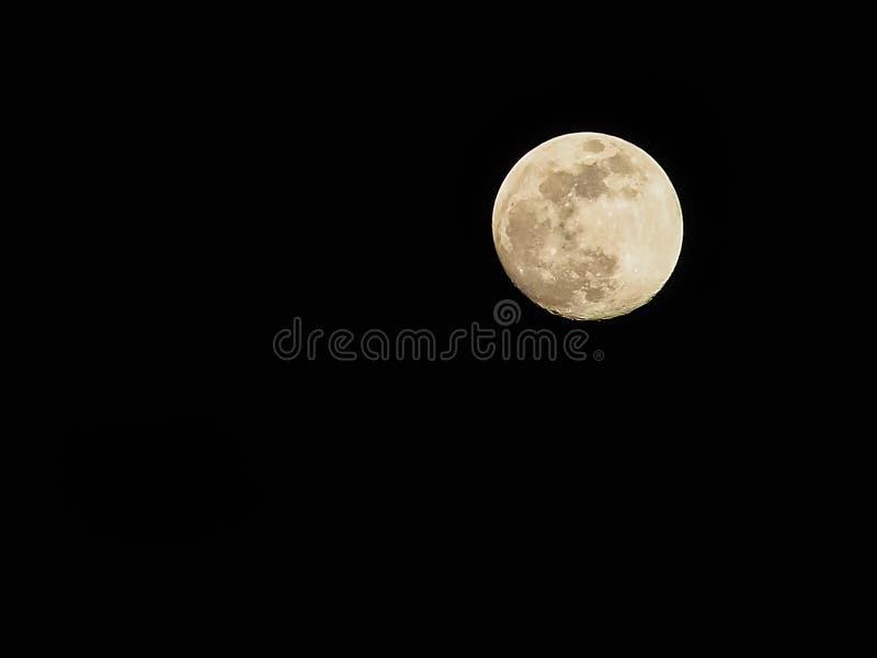 Pleine lune avec l'espace libre photographie stock libre de droits