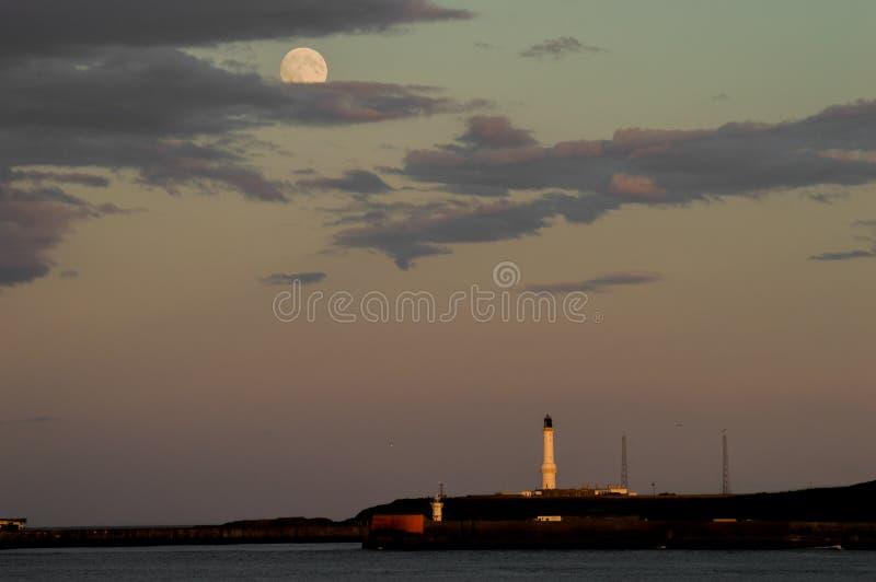 Pleine lune d'Aberdeen photos libres de droits