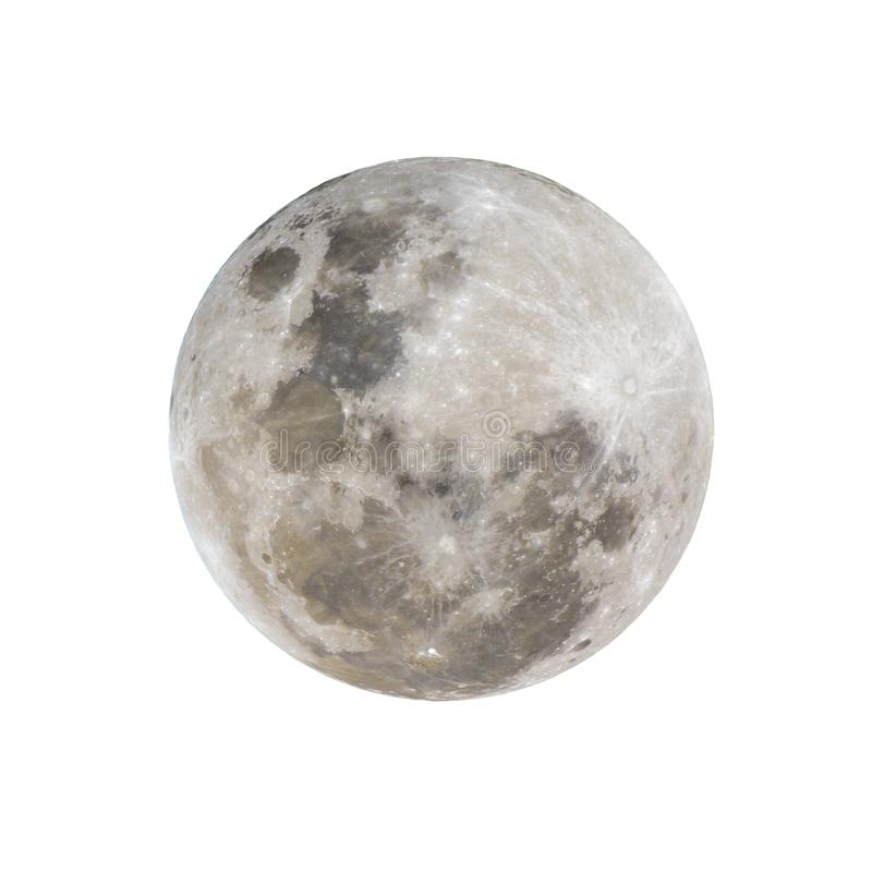 Pleine lune d'isolement images stock