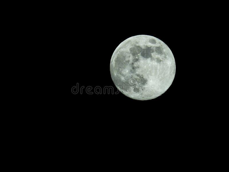 Pleine lune dans le ciel nocturne étoilé illustration libre de droits