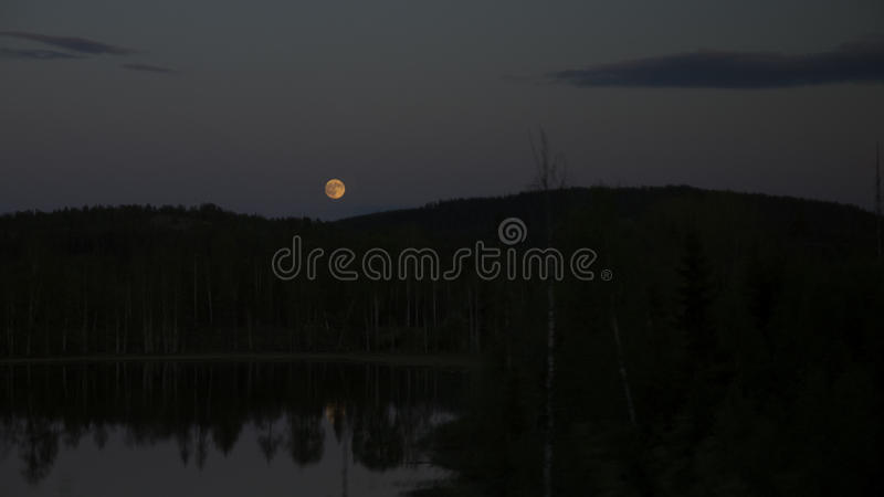Pleine lune jaune image stock