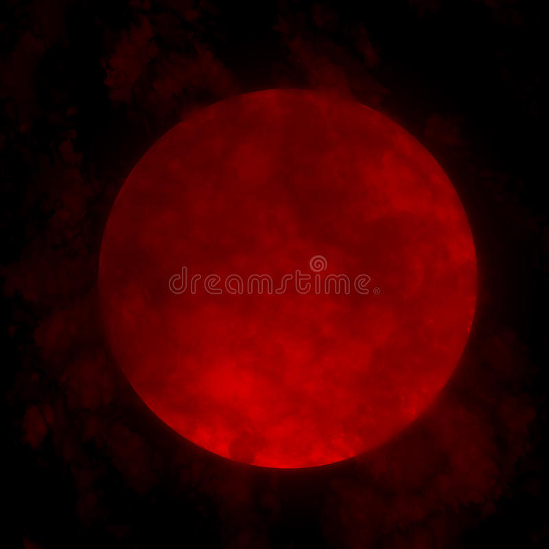 Pleine lune rouge illustration stock