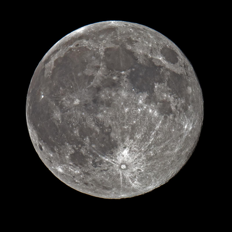 Pleine lune superbe photographie stock