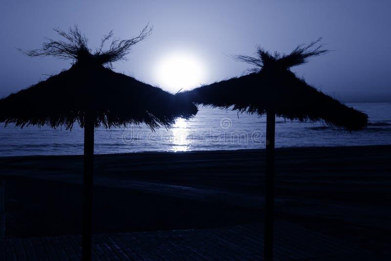 Pleine lune sur la plage photo libre de droits