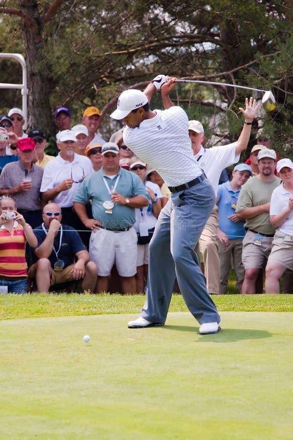 Pleine oscillation 1 de Tiger Woods de 6 photo stock