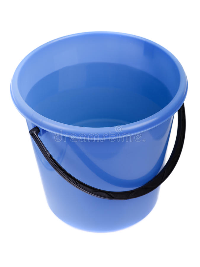Pleine position en plastique de l'eau image stock