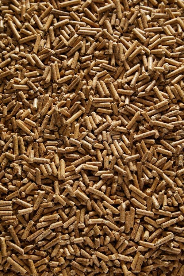 Pleine texture de fond de cadre des granules en bois images stock