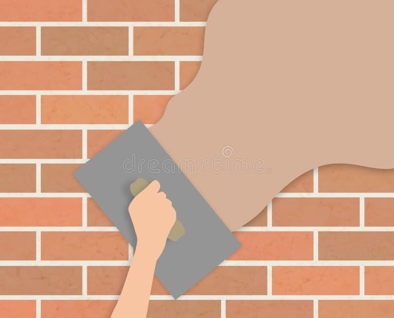 Pleisterende muur stock illustratie