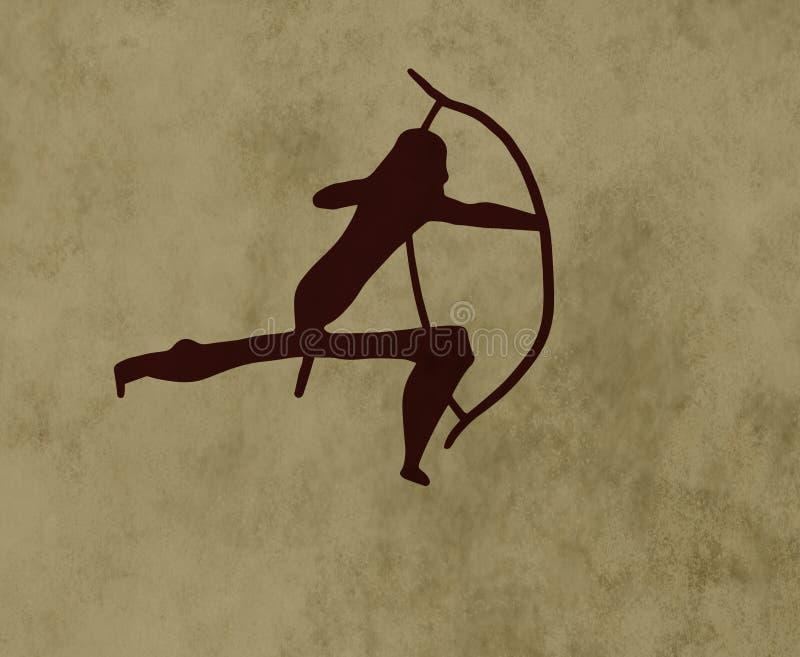 Plemienna łuczniczka ilustracja wektor