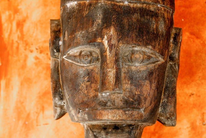 Plemienna drewniana twarz obraz stock