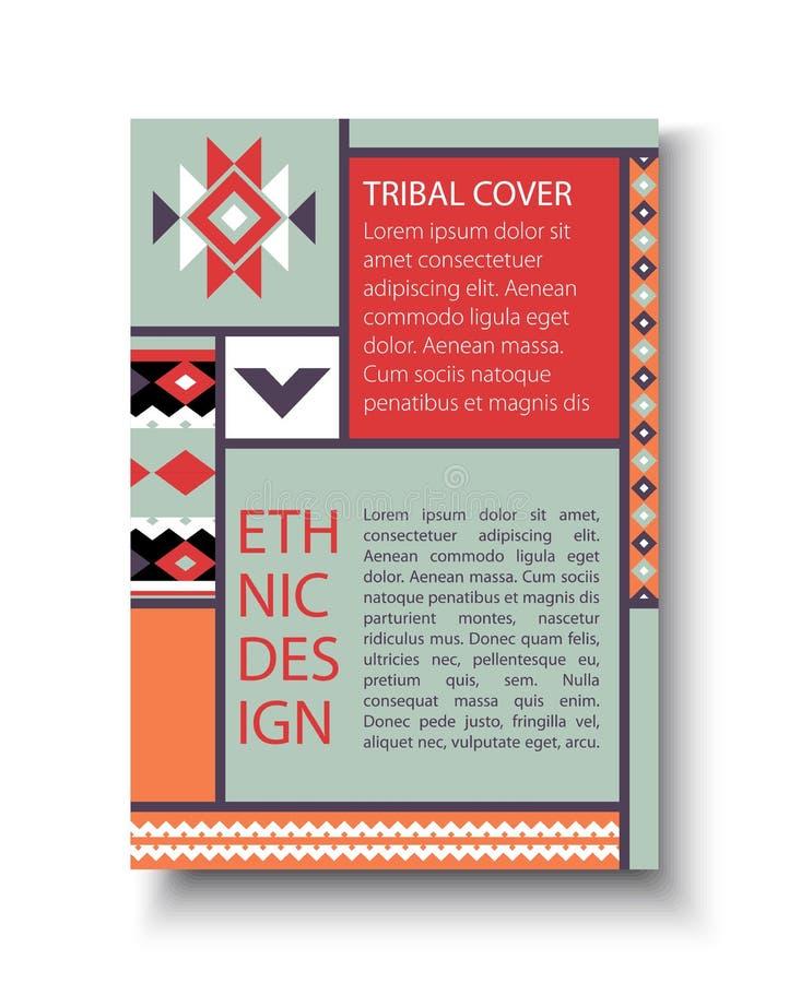 Plemienna kolorowa broszurki ulotka ilustracja wektor