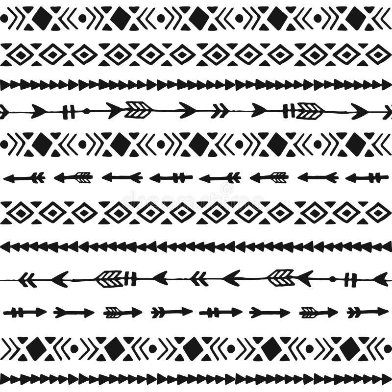 Plemienna ręka rysujący tło ilustracji