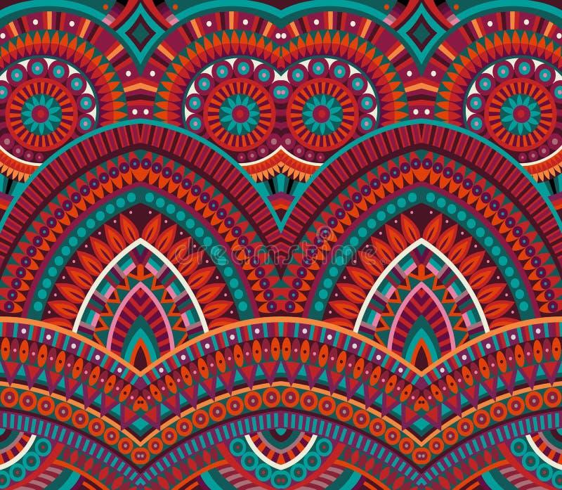 Plemiennego pochodzenia etnicznego bezszwowy wzór ilustracji
