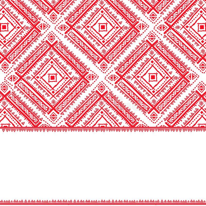 Download Plemiennego Rocznika Etniczny Deseniowy Bezszwowy Ilustracja Wektor - Obraz: 34838165