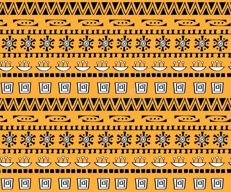 Plemiennego sztuki boho bezszwowy wzór Etniczny geometryczny druk ilustracja wektor