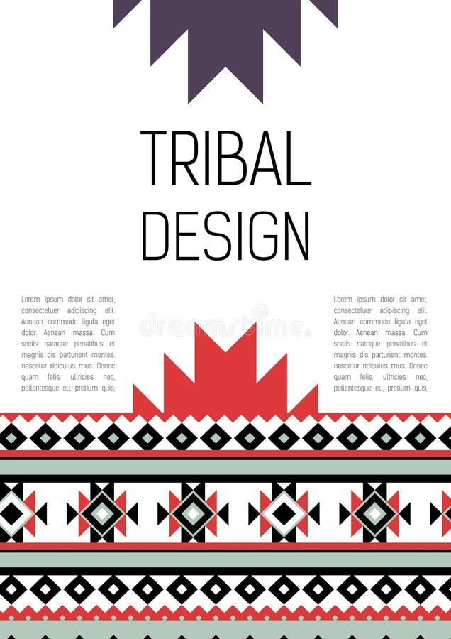 Plemiennej etyki broszurki kolorowa ulotka ilustracja wektor