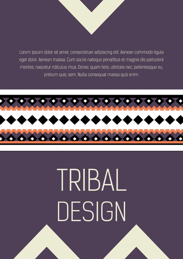 Plemiennej etyki broszurki kolorowa ulotka royalty ilustracja