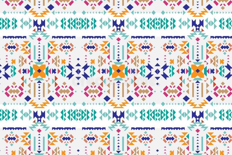 Plemiennej sztuki etniczny bezszwowy wzór Ludowa abstrakcjonistyczna geometryczna tekstura ilustracja wektor