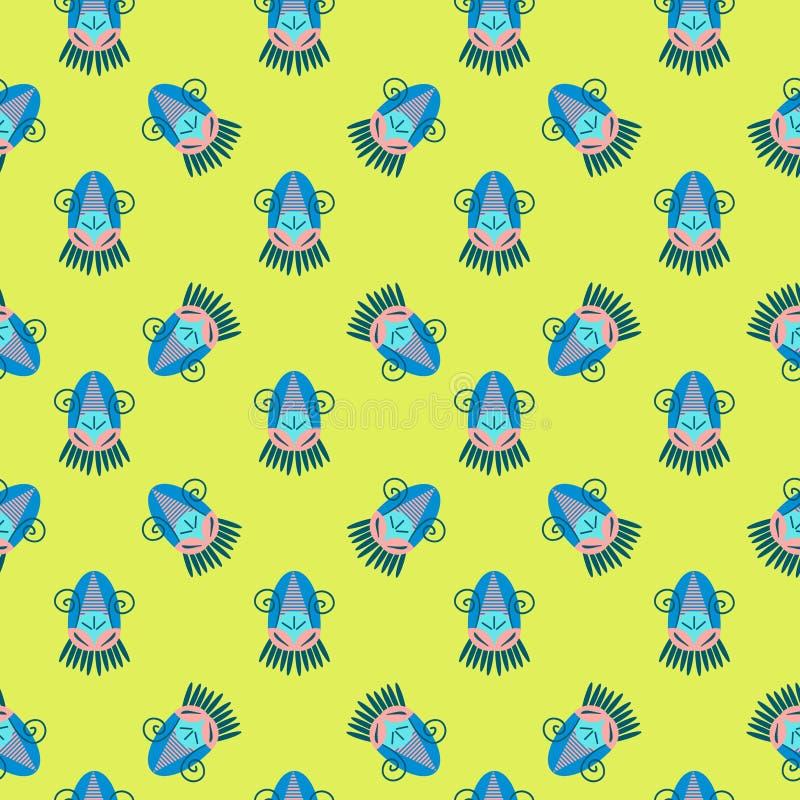 Plemiennej tekstury geometryczny bezszwowy wzór royalty ilustracja