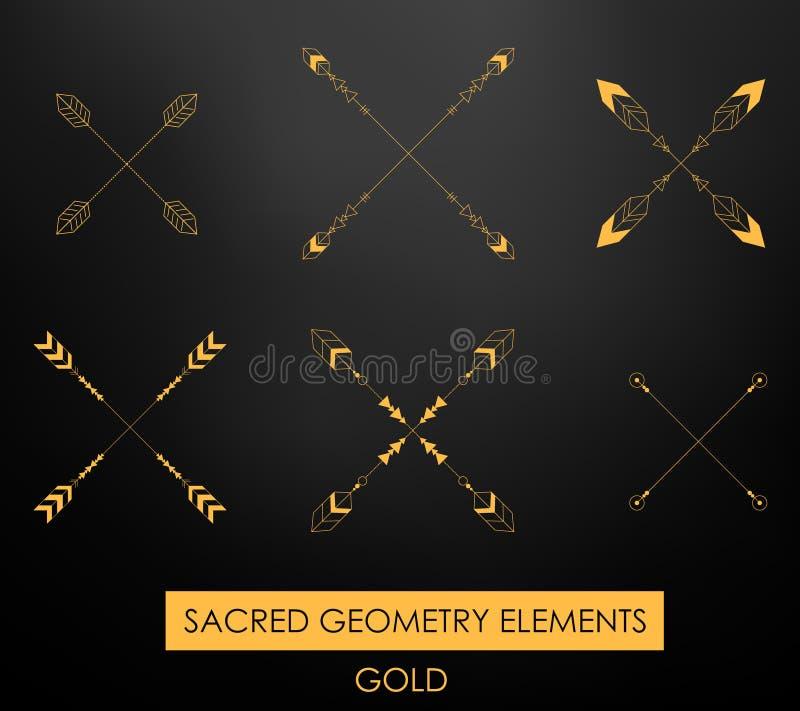 Plemienni geometryczni elementy Plemienny minimalizm ilustracja wektor