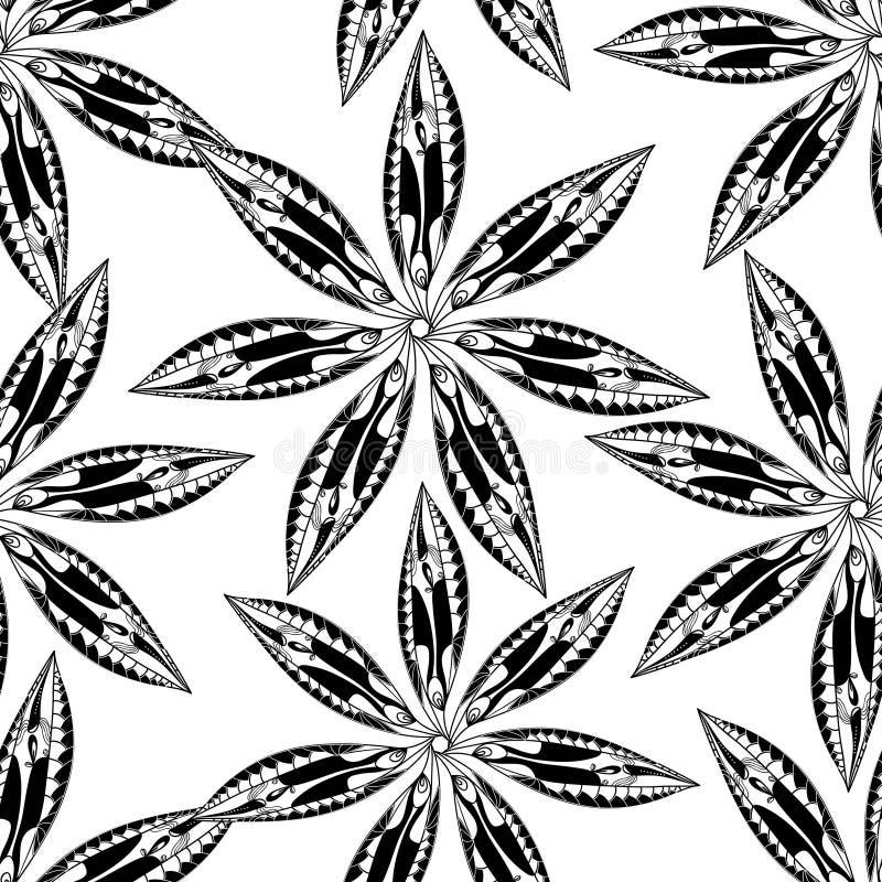 Plemienni kwiaty royalty ilustracja