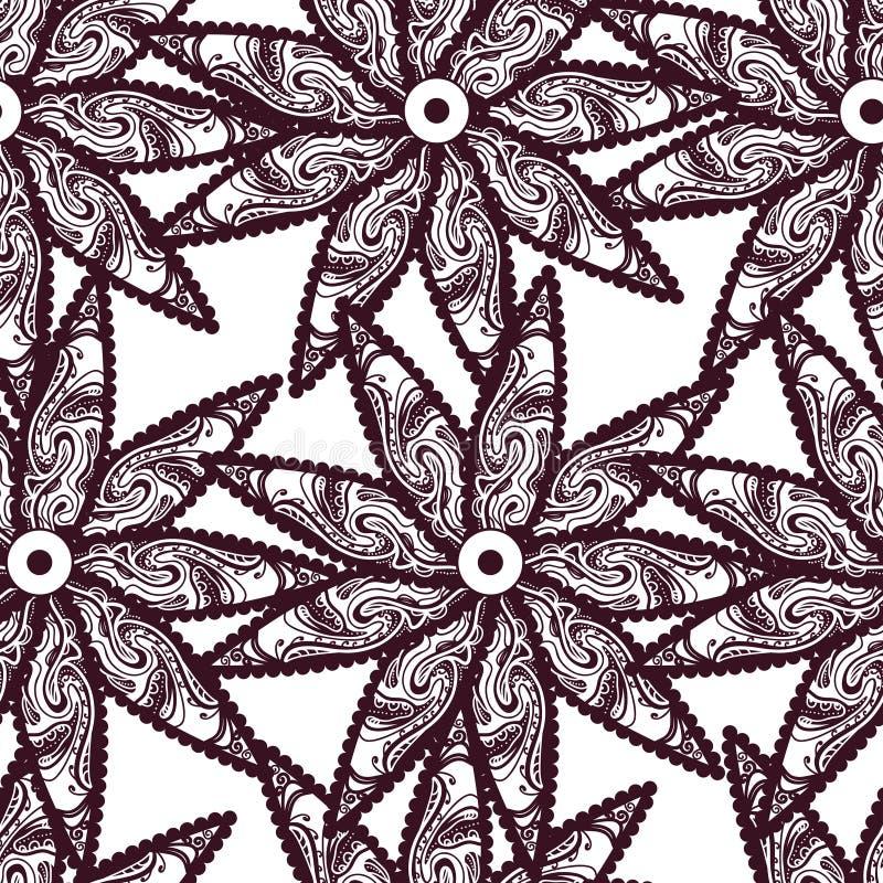 Plemienni kwiaty ilustracja wektor