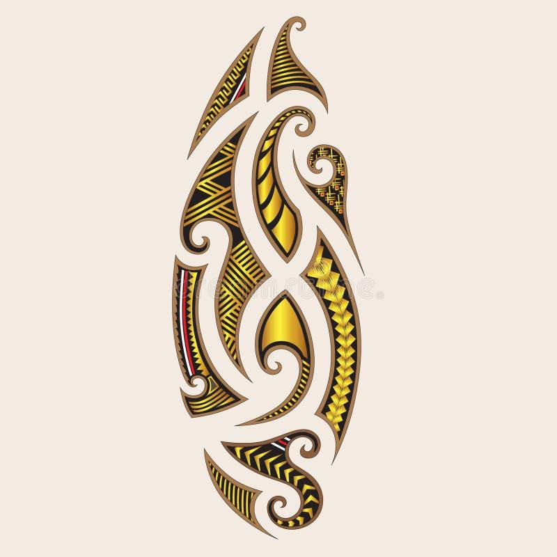 PLEMIENNI tatuaż sztuki projekty Maorysa styl ilustracja wektor
